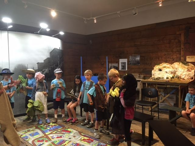 A group of children on a museum tour
